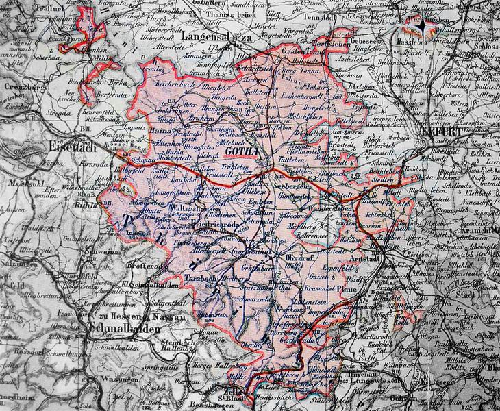 Landkreis Gotha Karte.Landkreis Gotha Region Geschichte