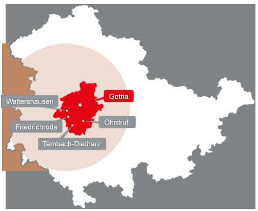 Landkreis Gotha Karte.Landkreis Gotha